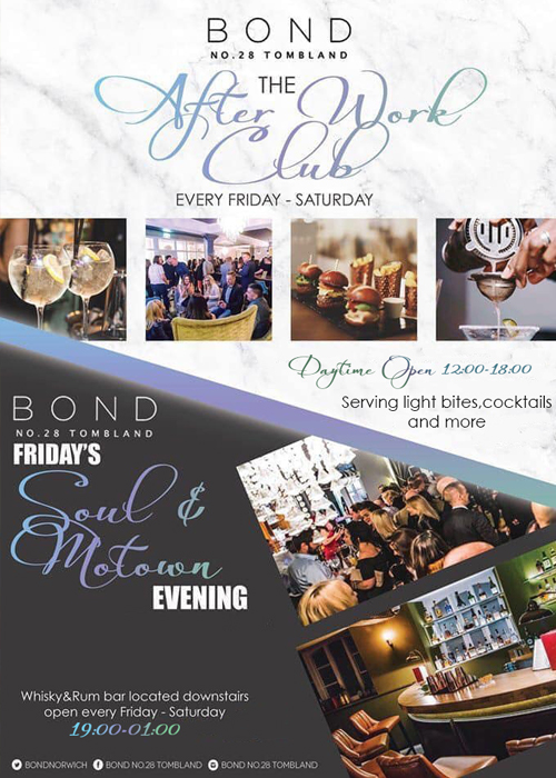 Bond Norwich - After Work Club - Fri & Sat