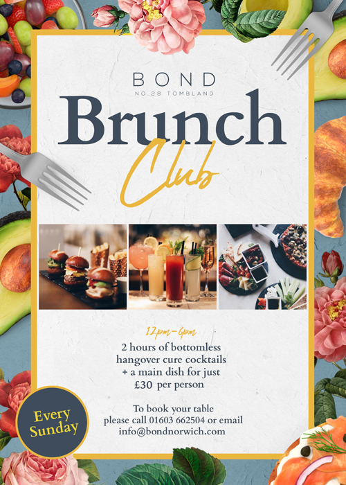 Bond Norwich Brunch Club - Sunday