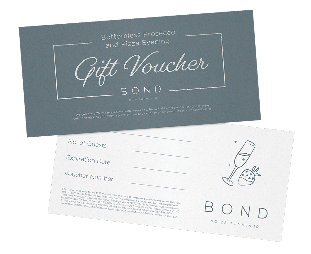 Bond Gift Vouchers - Click here